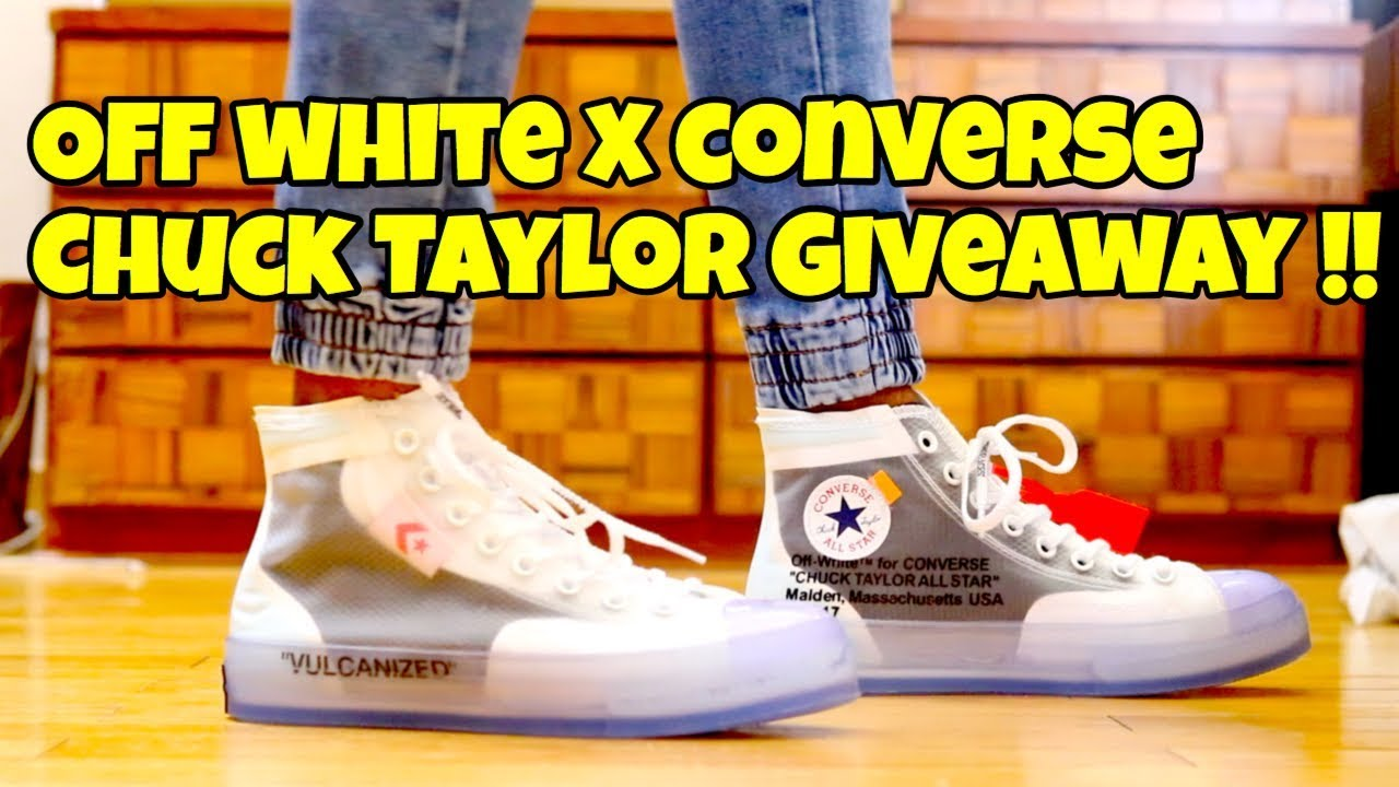 d54ddf7ce54 OFF WHITE X CONVERSE CHUCK TAYLOR GIVEAWAY !! + Review + On Feet ...
