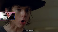Chandler Riggs (Carl Grimes) reacts to BLR's The Walking (And Talking) Dead. (And Carl Poppa)