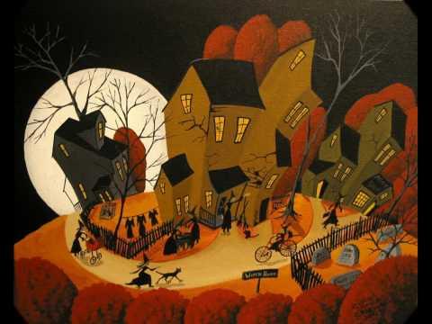 Folk Art Halloween Debbie Mama Criswell folkartmama paintings artist