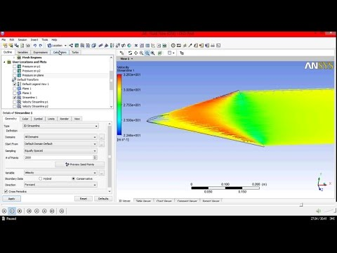 Delta wing 3D CFD analysis  using CFx in Ansys Workbench