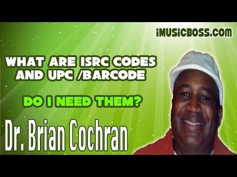 How to use ISRC CODES & UPC BARCODES in the music business