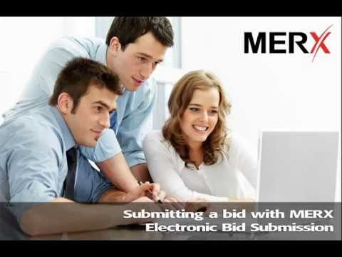 Submitting a bid electronically with MERX EBS