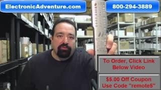 Original Sharp RRMCGA384WJSA Aquos TV Remote Control (GA416WJSA) - $5 Coupon Code See Video