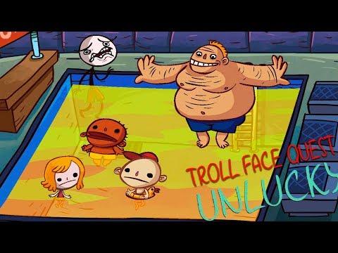 ЖЕЛТЫЙ БАССЕЙН! ЗАТРОЛЛИЛ ВСЕ НЕУДАЧИ в Веселой игре Troll Face Quest Unlucky от Cool GAMES