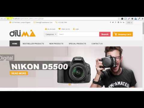 How to install Dilima Responsive Opencart theme ?