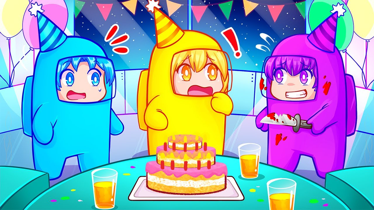 Among Us Birthday Among Us Birthday Party Impostor Rounds Ft H2o Delirious Cartoonz Dead Squirrel More Youtube