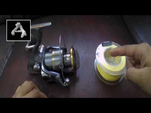 Cara mengikat tali pancing ke reel ( How to tie fishing line to a reel)