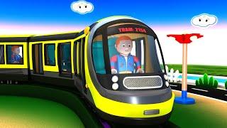 METROPOLIS CITY - Super Hero Cartoon Train Toy Factory