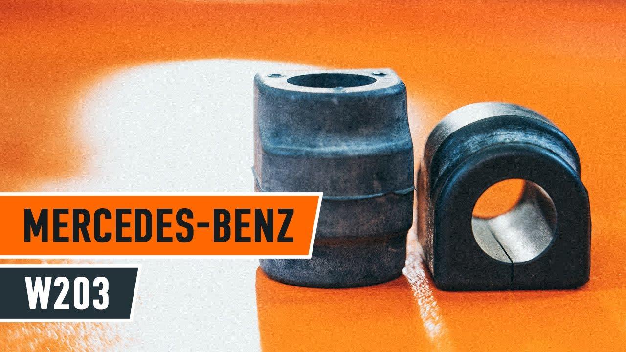 Как да сменим предните опори на стабилизатора на MERCEDES BENZ C W203 [ИНСТРУКЦИЯ]
