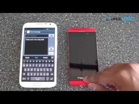 Samsung Galaxy Note 2 vs BlackBerry Z10