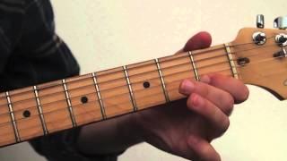 Lezioni di chitarra blues: Lick n.1 costruito sul primo box della scala pentatonica