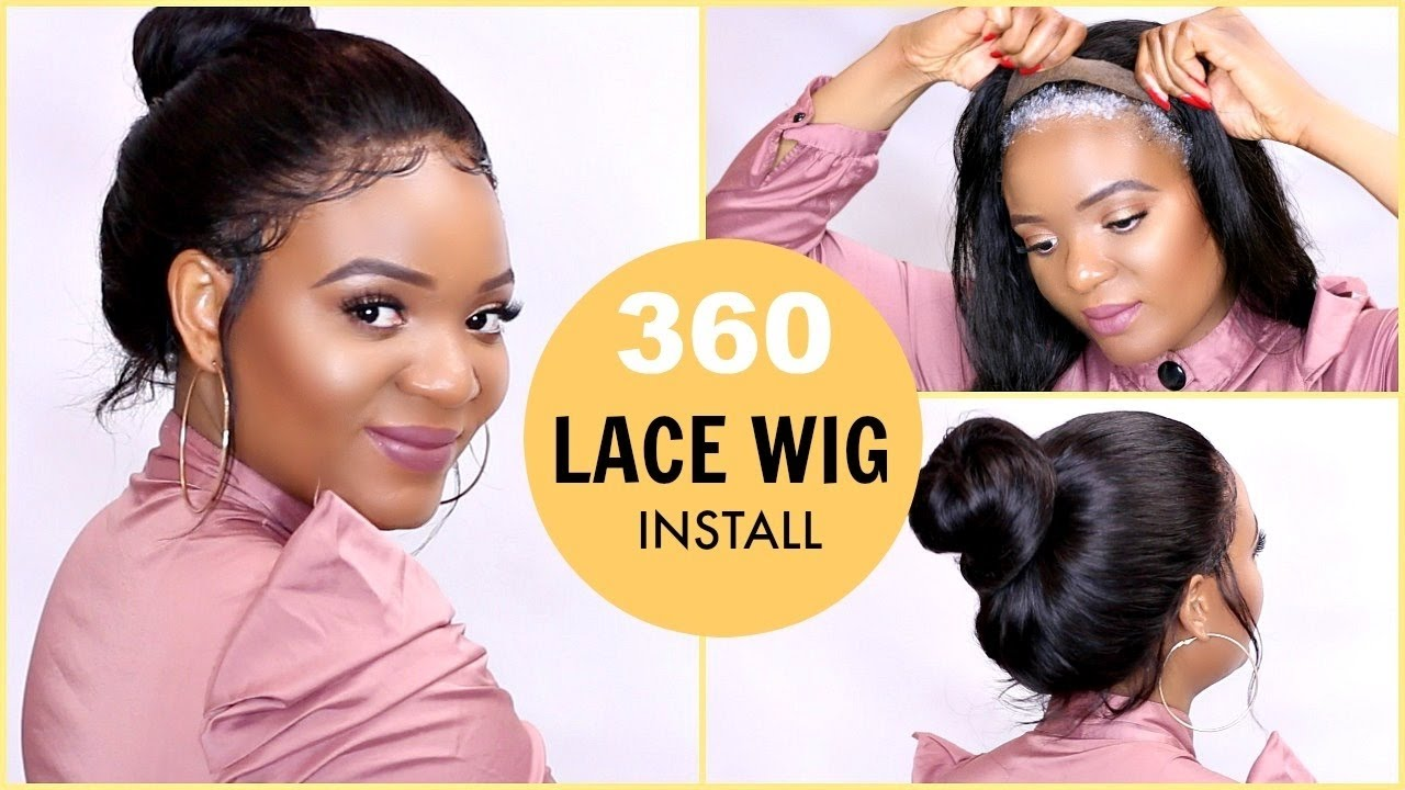 HOW TO INSTALL   REMOVE 360 LACE WIGS USING GOT2BE  99cf05321