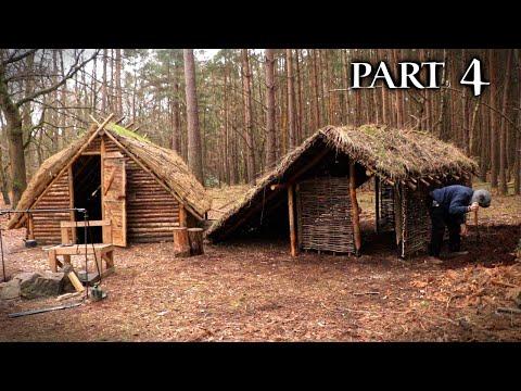 Bushcraft Camp: Viking Turf House | Building the Walls (PART 4)