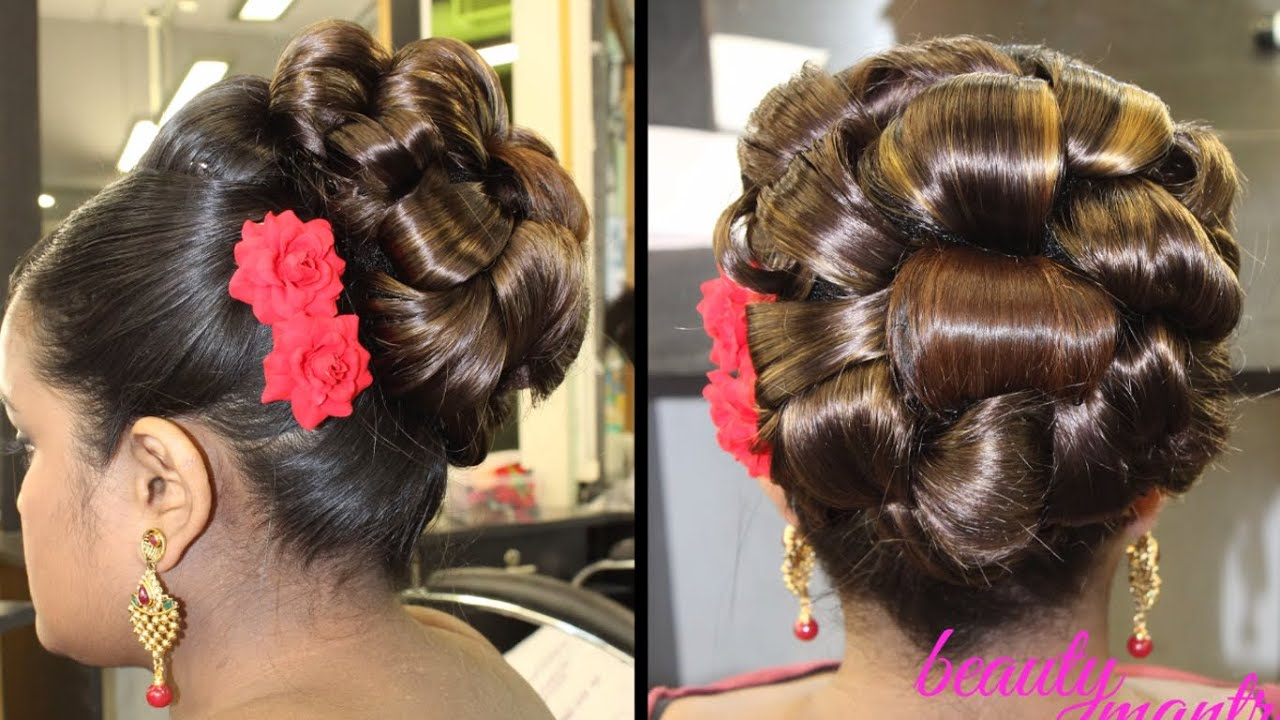 bridal hairstyle for short, very short and bob cut hair - youtube