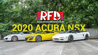 homepage tile video photo for A look at the 2020 NSX, The Original, and a modern 911 Turbo!