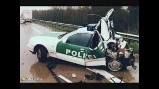 crash véhicul de police et pompier