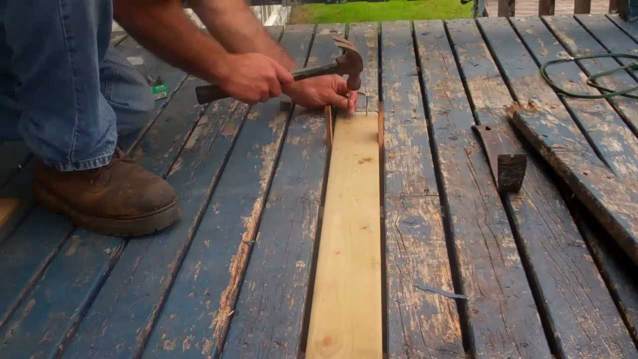 How To Replace Rotten Decking Youtube