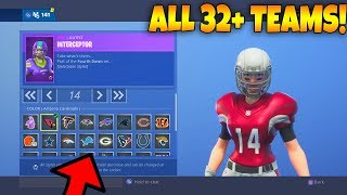 *NEW* Football NFL Skins Are Out..! Showcasing ALL Styles! (Fortnite Battle Royale)