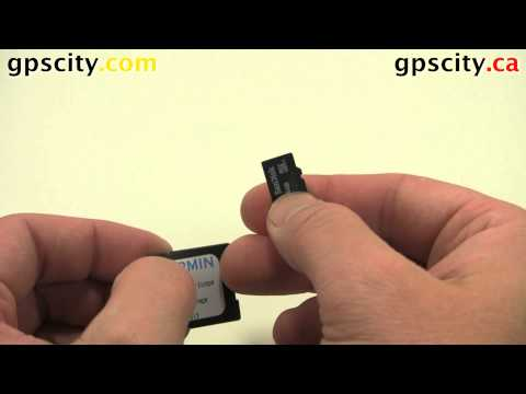 MicroSD Card with SD Secure Digital Adapter Howto with GPS City