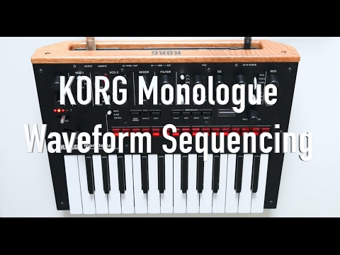 KORG Monologue - Waveform Sequencing Tutorial