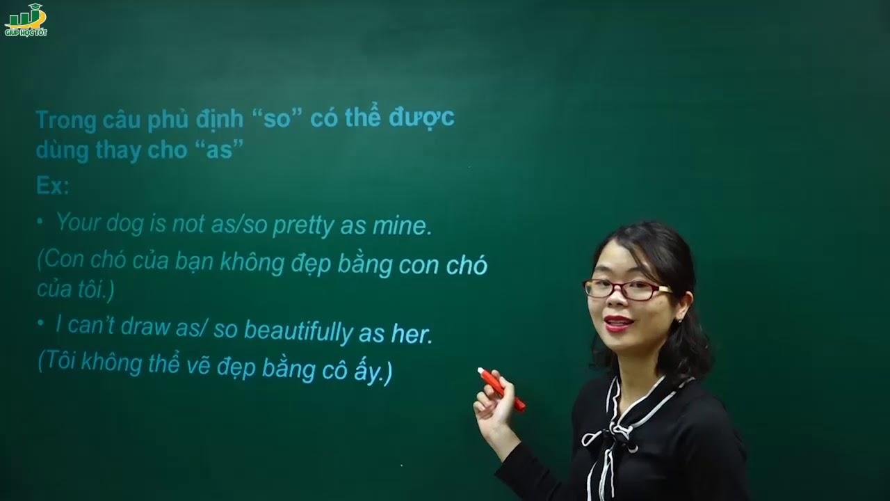 Tiếng Anh lớp 9 – Bài giảng Ôn tập Câu so sánh trong tiếng anh|Cô Thu Oanh