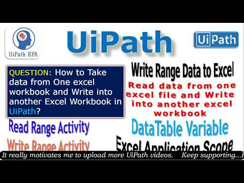Input from One Excel and Write to another Excel in UiPath  UiPath