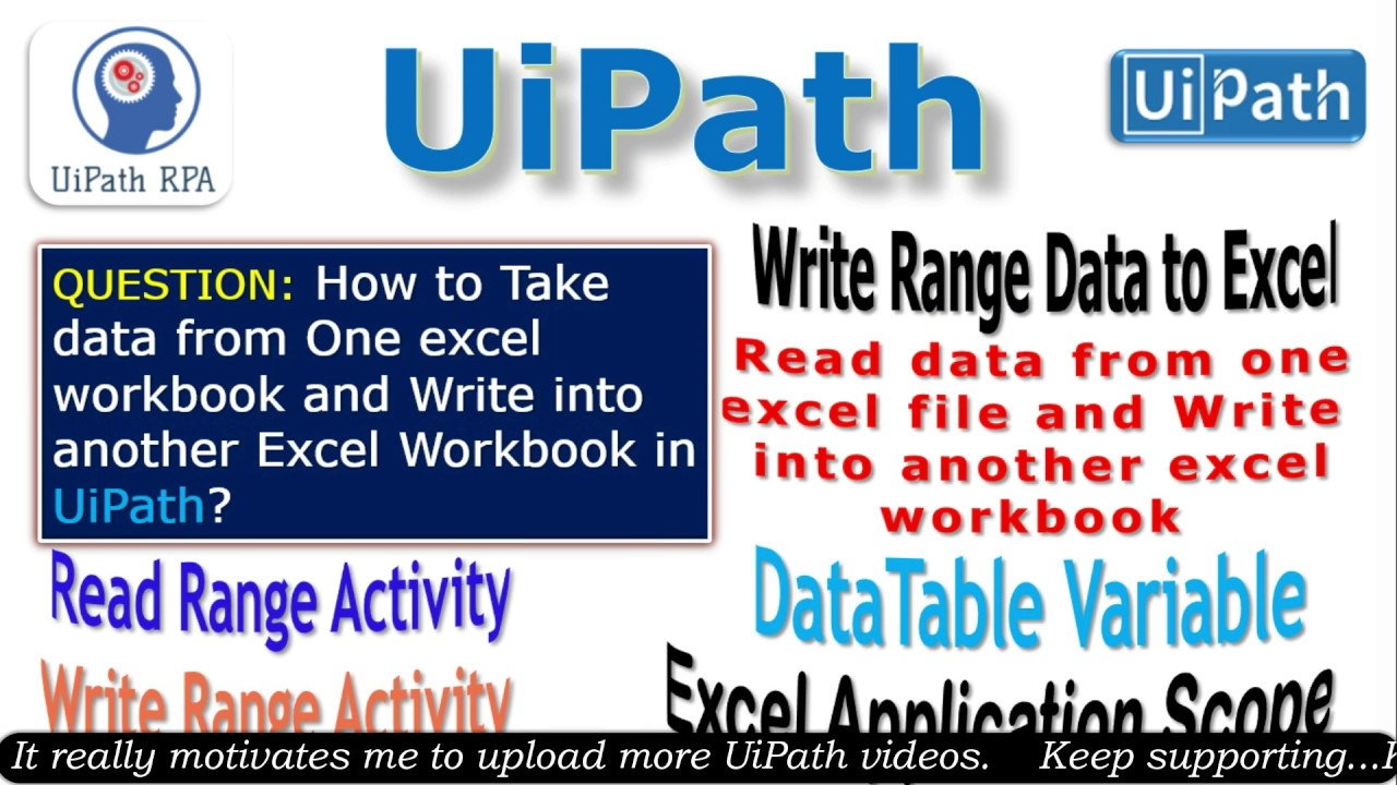 Input from One Excel and Write to another Excel in UiPath||UiPath RPA  Tutorial