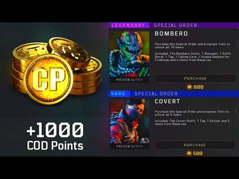 COD Points Added to Black Ops 4 (What do they buy?)