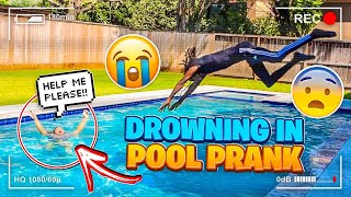 I DROWNED IN THE POOL IN FRONT OF MY BOYFRIEND PRANK!