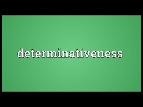 Header of determinativeness