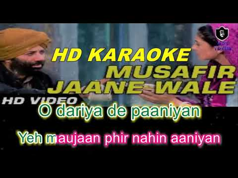 Musafir Janewale (Gadar) HD KARAOKE WITH FEMALE VOICE BY AAKASH
