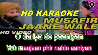 Musafir Janewale (Gadar) HD KARAOKE WITH FEMALE VOICE BY AAKASH