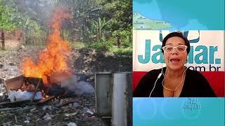 Moradores do distrito de flores denunciam queimadas de lixo