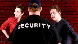 SECURITY TAKES DOWN PUNKS!