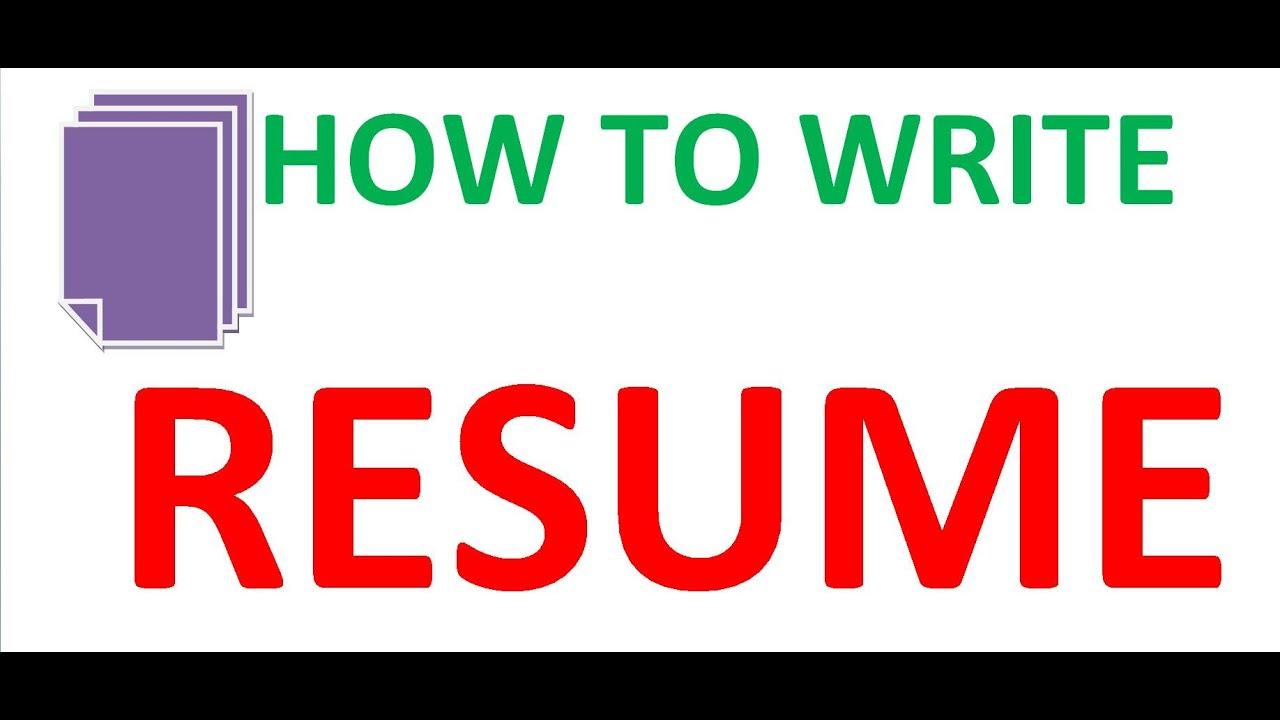 how to write a resume for job youtube