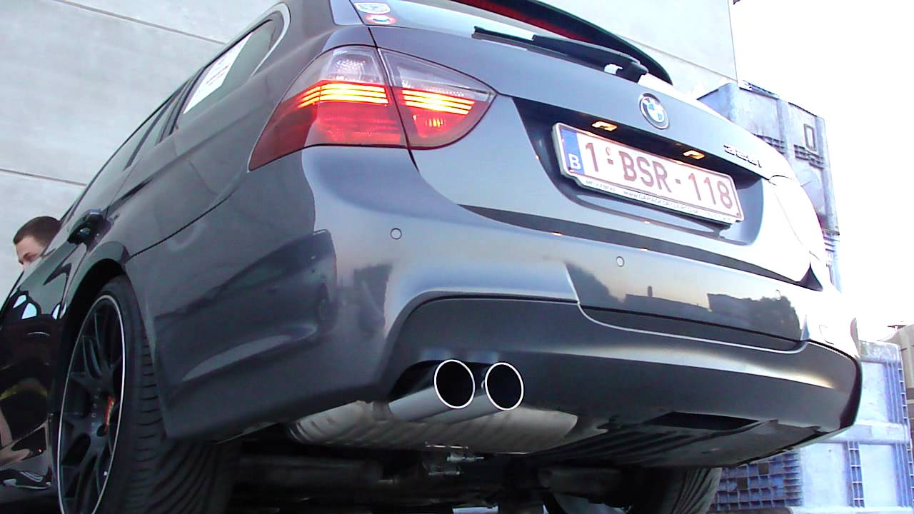 bmw e91 325i eisenmann race exhaust youtube. Black Bedroom Furniture Sets. Home Design Ideas