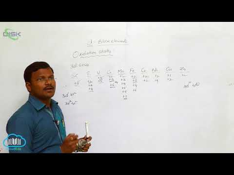 Gen.prop. of The Transition Elements(d-Block) ||Oxidation States Magnetic Character|| Disk Telangana