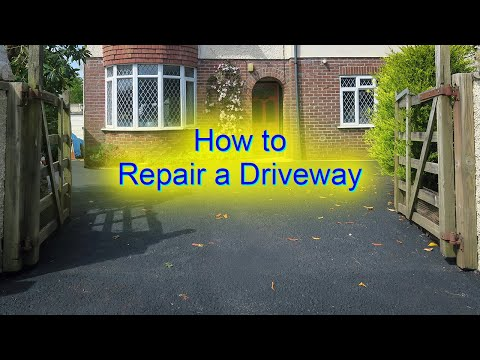 How to Repair Driveway - Painting, Sealing, Protecting