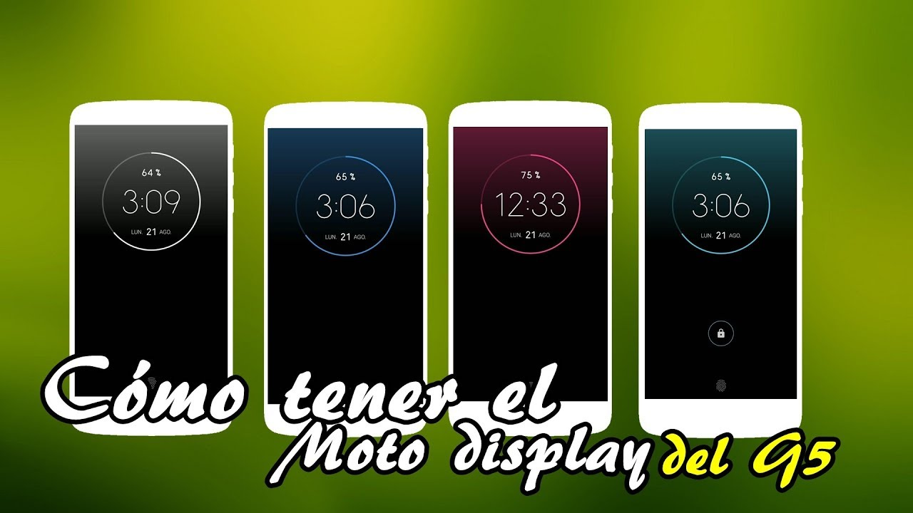 COMO TENER LA PANTALLA MOTO DISPLAY DEL MOTO G5 EN EL MOTO Z (NORMAL Y PLAY)
