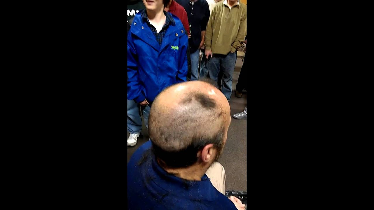 Getting His Head Shaved 8