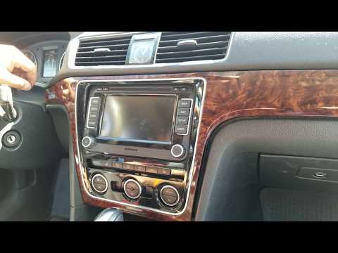 How to Remove Radio / Navigation / Display from VW Passat 2012 for Repair.
