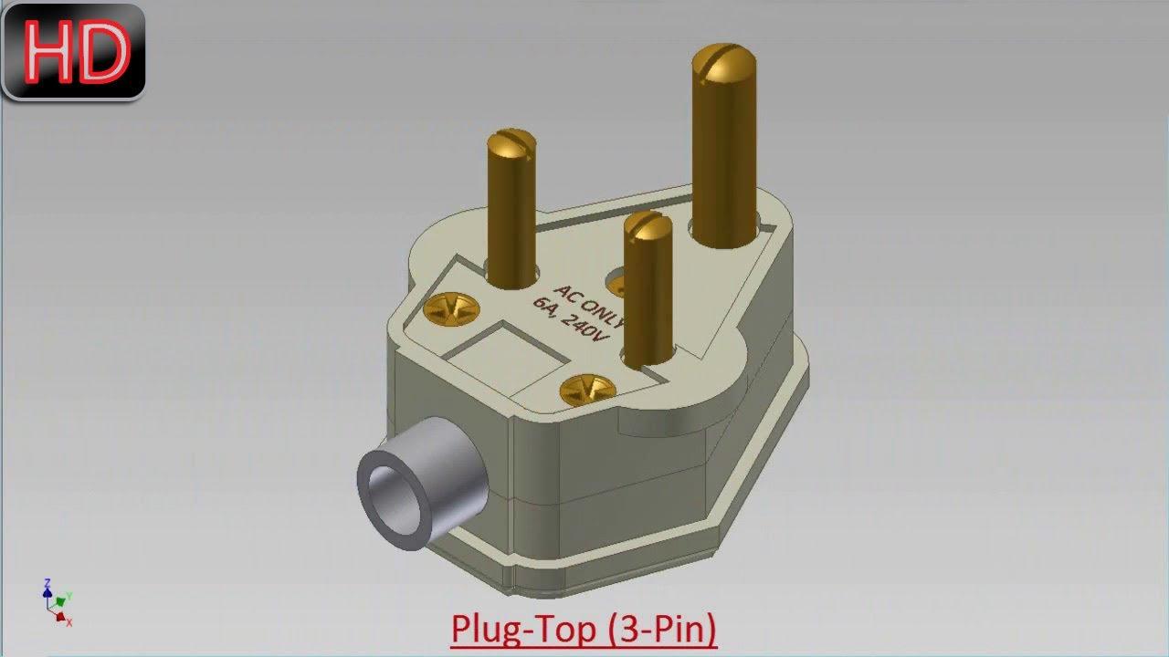 Plug-Top (3-Pin) (Video Tutorial) Autodesk Inventor - YouTube
