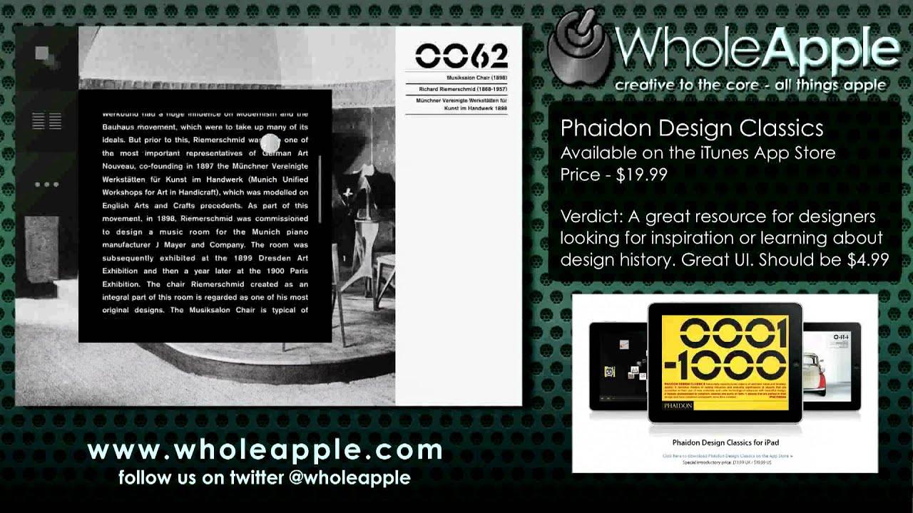 Wholeapple phaidon design classics ipad app review youtube wholeapple phaidon design classics ipad app review solutioingenieria Images