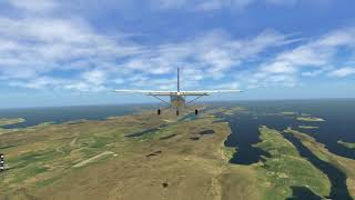 Cessna 207 Skywagon -- Scatsta - Sumburgh (ORBX) Pt. 2 -- X-Plane 11.32r1