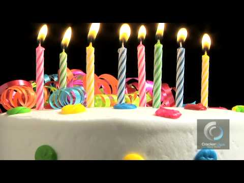 Birthday Cake With Candles Stock