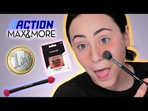 Zuschauerin schickt 1€ MAKEUP 😳 FULL FACE only using Max&More ACTION MAKEUP 🧐 Hatice Schmidt