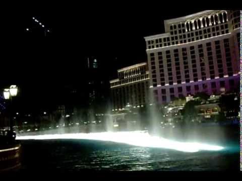 Wonderful musical fountain in Las Vegas