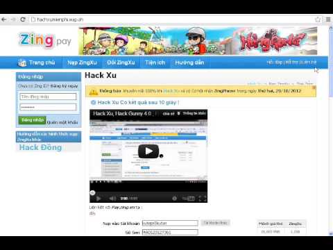 Hack ZINGXU VNG hachxumienphi.wap.sh 5/8/2015