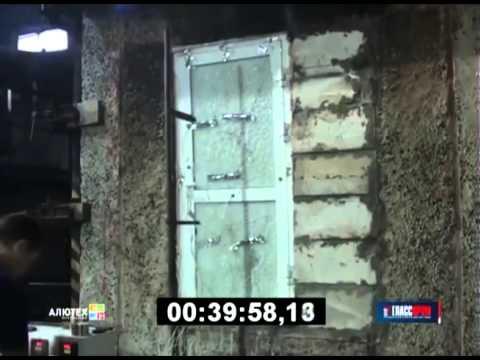 Испытания противопожарной двери EIW-60 без стального сердечника