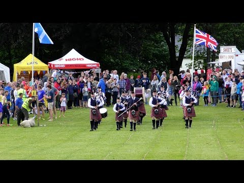 Kenmore Highland Games 2017 in rural Perthshire, Scotland, traditional Scottish friendly games